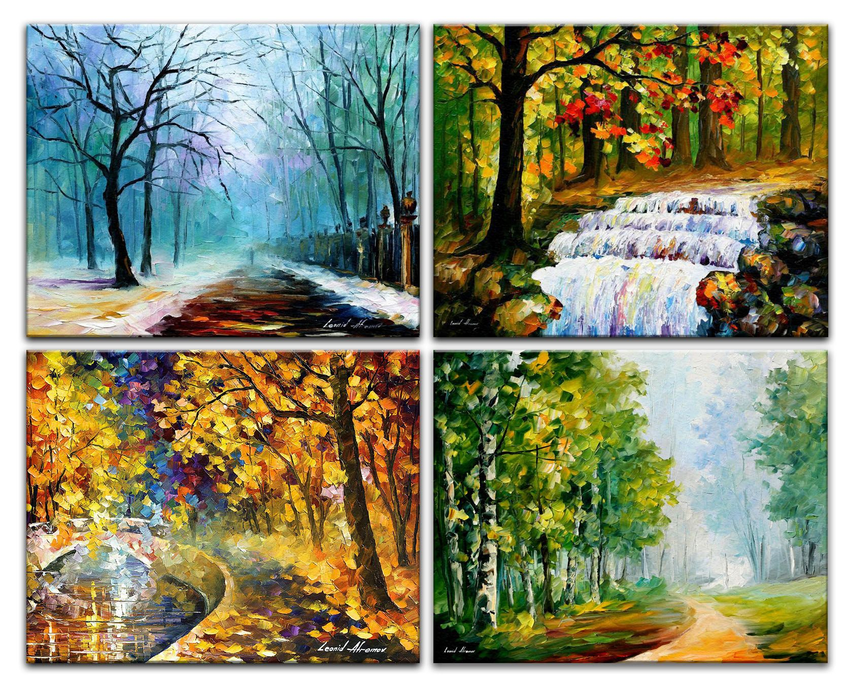 The Season Of Orange Leafs Palette Knife Oil Painting On Canvas Oil Painting Nature Oil Painting Abstract Oil Painting Pictures