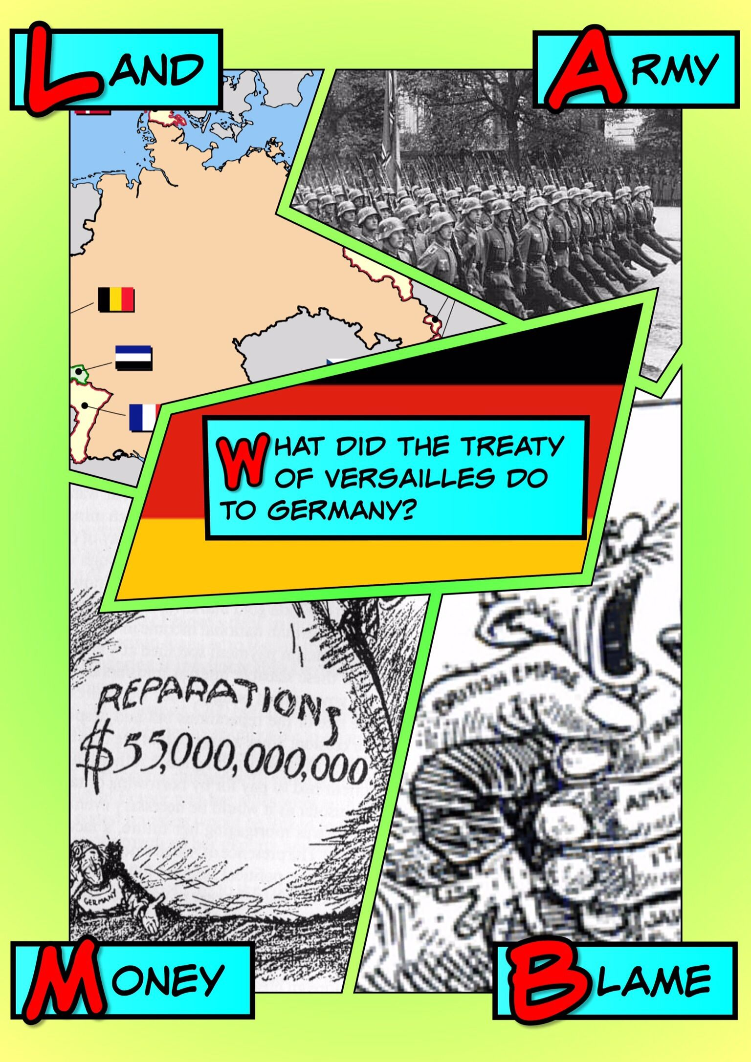 Impact Of The Treaty Of Versailles On Germany Halftone