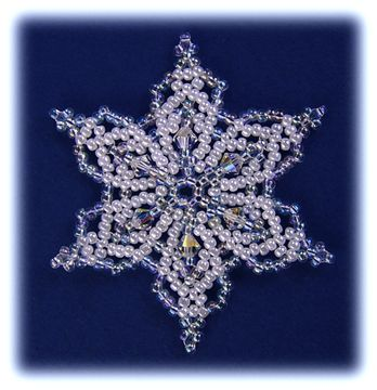 Snowflake #41 Ornament Pattern at Sova-Enterprises.com. Lots of FREE beading patterns and instructions are available!