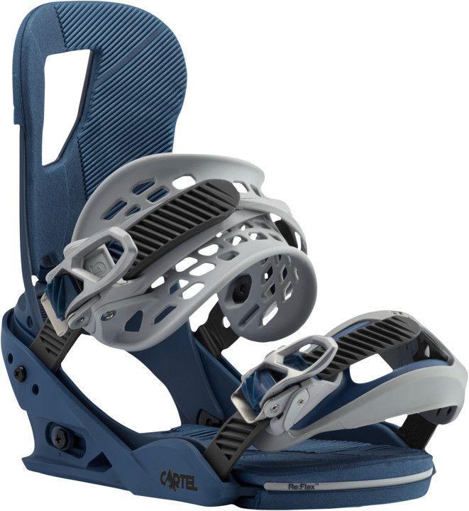The Burton Cartel Snowboard Bindings In Blue Steel For