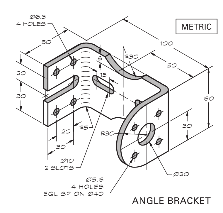 Angle Bracket Sheet Metal Drawing Sheet Metal Technical Drawing