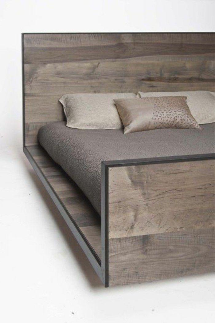 lit en bois gris lit deux places pas cher conforama lit adulte lit deux places - Lit Adulte Pas Cher