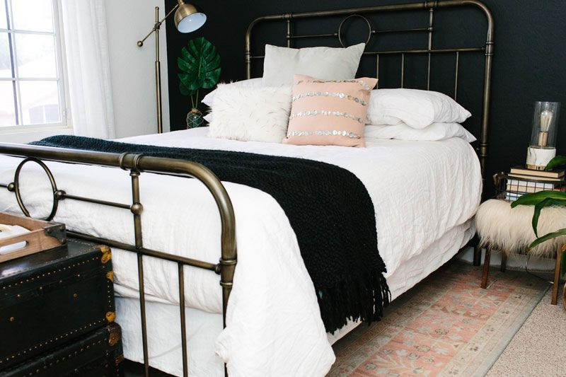 Two words for the spare room of your guests dreams quality and comfort  Threads by Garnet Hill  Guest Room Bedding Ideas Eileen Fisher Washed Linen Bedding Collection