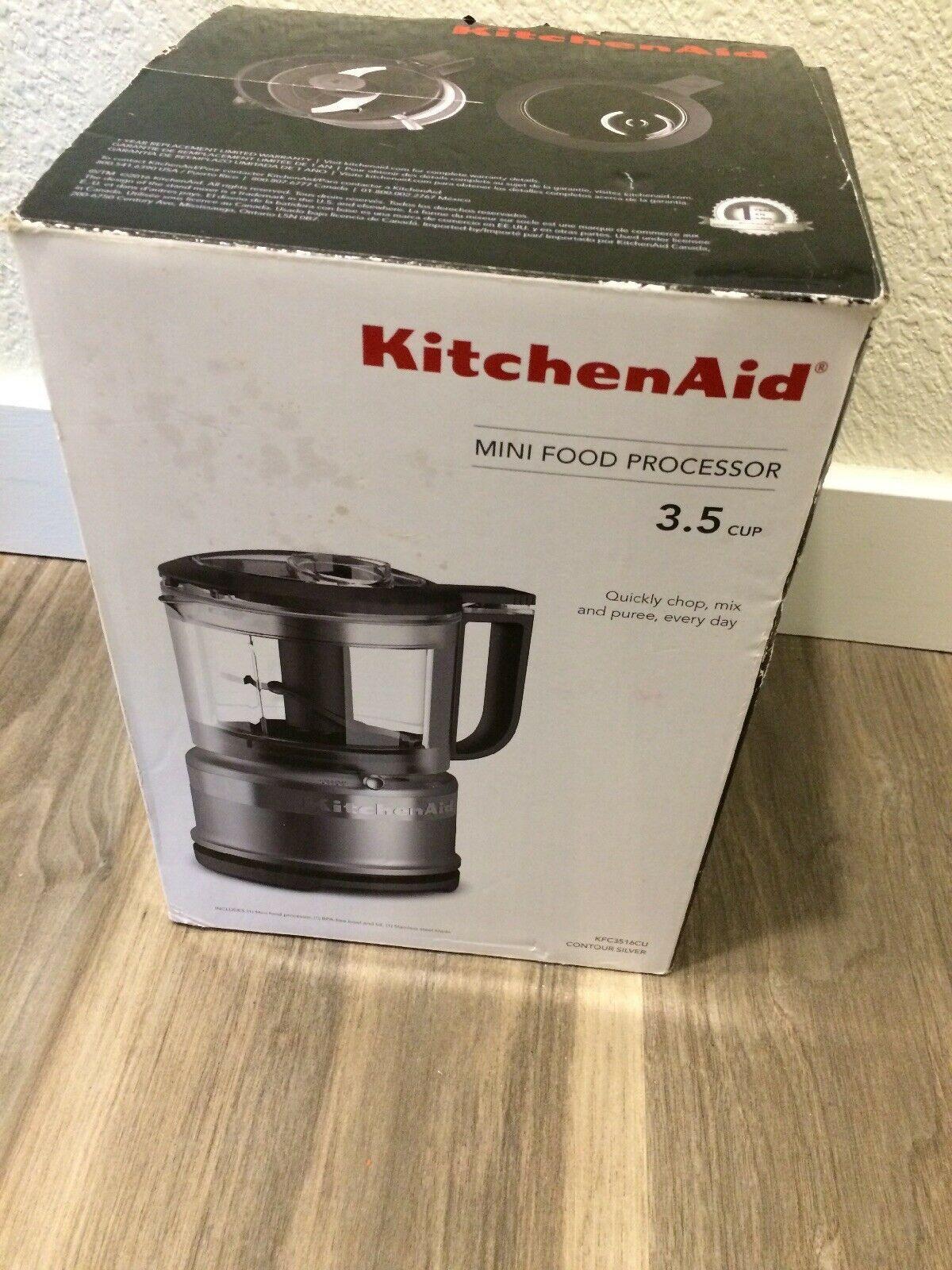 Kitchenaid 3.5 Cup Food Chopper KFC3516CU Contour Silver