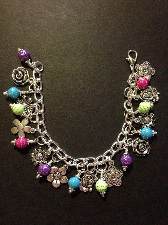 Custom Personalized Charm bracelet by WhimsyAndSparkle on Etsy