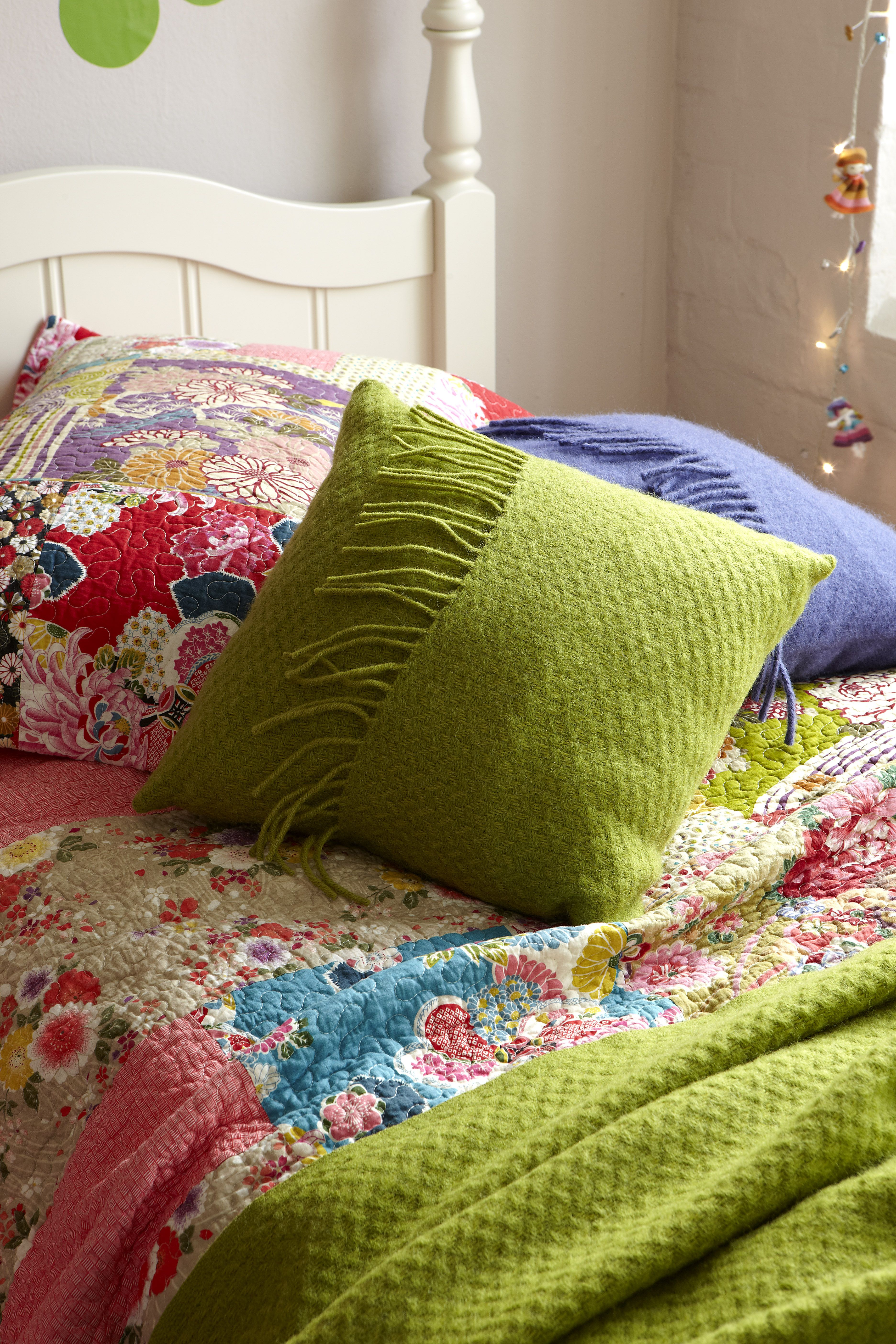 aspace kizzy quilt parma violet cushion grass green cushion  - aspace kizzy quilt parma violet cushion grass green cushionbohemiansummer