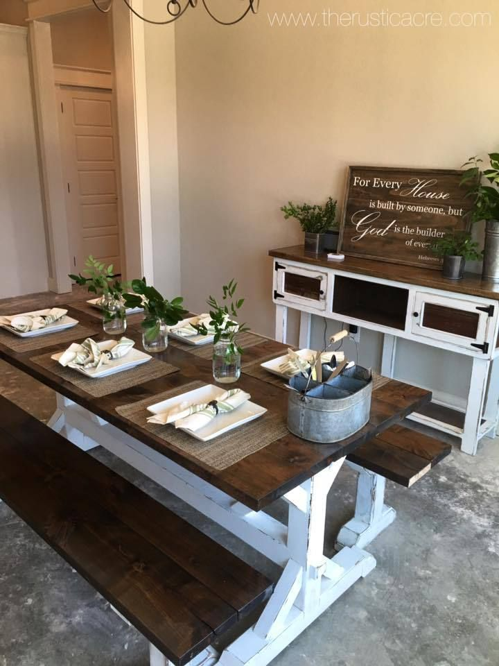 Farmhouse Table | The Rustic Acre | College Station, TX | Custom Built  Furniture