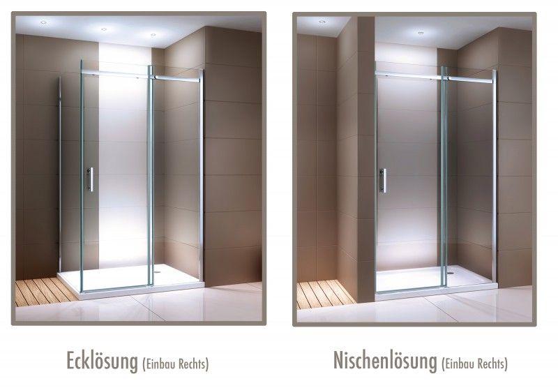 Badezimmer schiebetür ~ Duschabtrennung mit schiebetür nano echtglas dx a breite