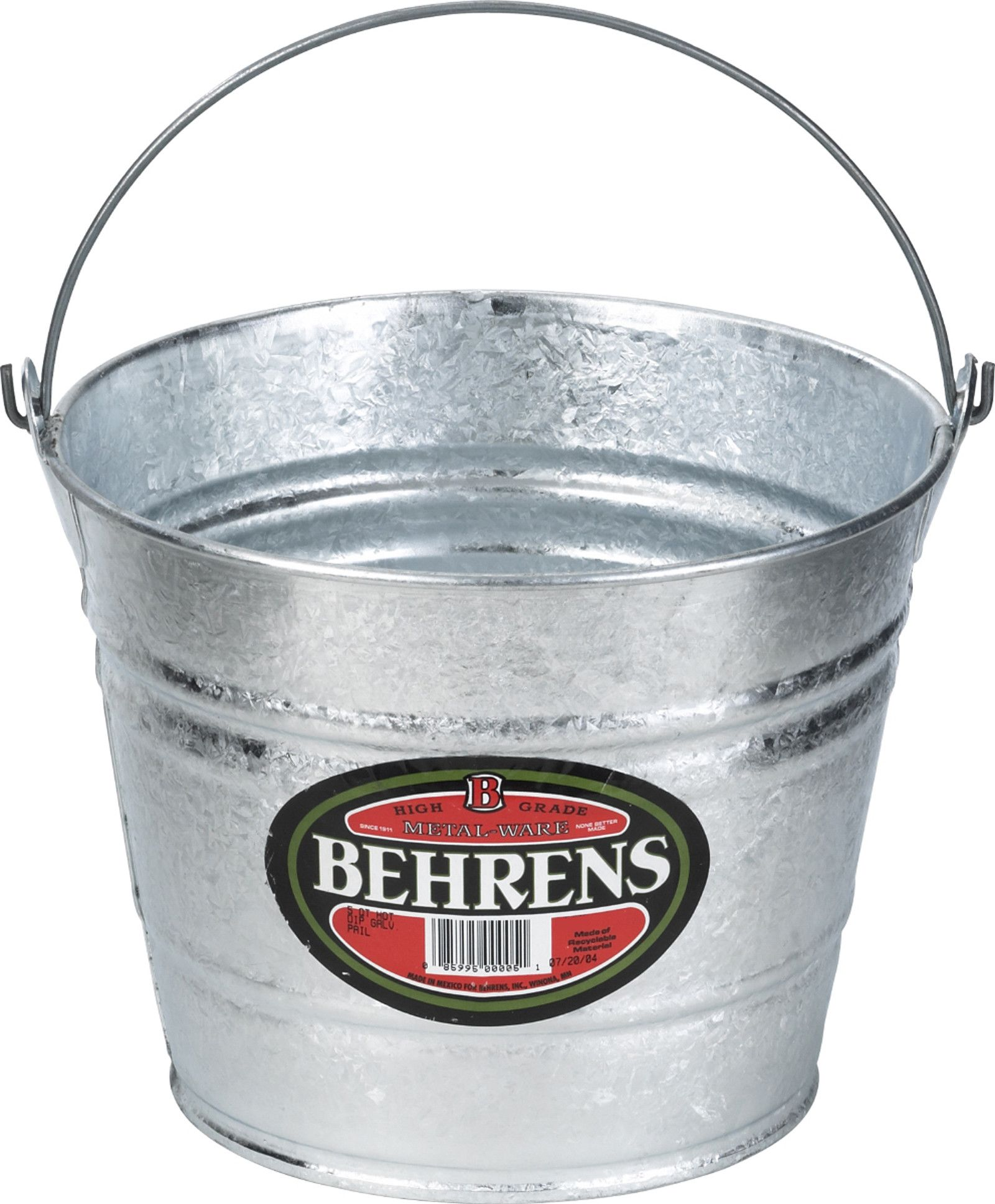 Hot Dipped Steel Pail Water Pail Galvanized Steel Steel