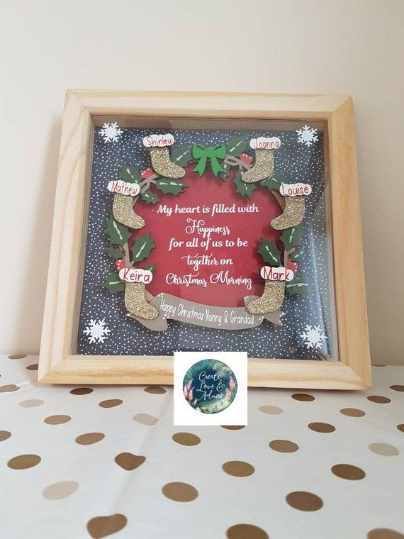 Personalised Family Christmas Gift Stockings Christmas Wreath