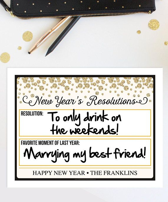 Everyone is going to love these funny New Years Eve Resolution Photo ...