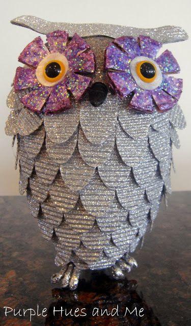 Glitsy DIY Owl