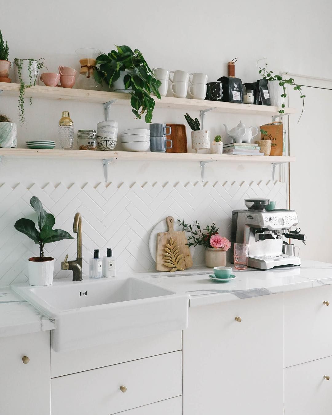 Offee Until It S Time For Wine The Perfect Sunday Morning Scenes In Our Kitchen Kitchen Shelves Decor Kitchen Interior