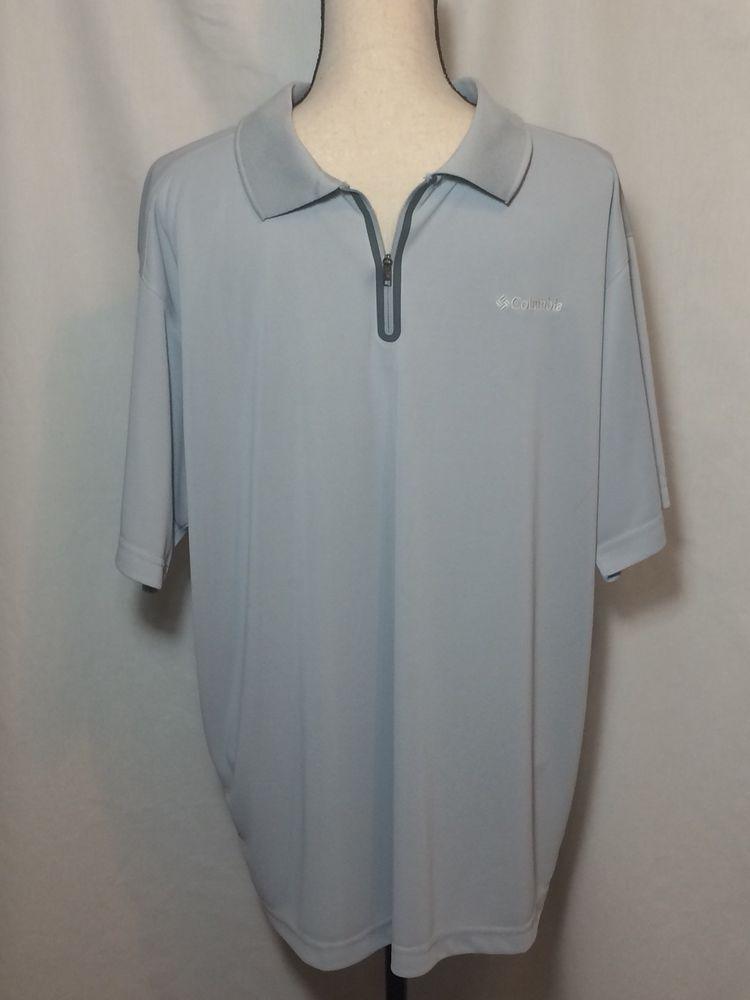 Columbia Men S Gray Omni Freeze Advanced Cooling Polo Golf Shirt