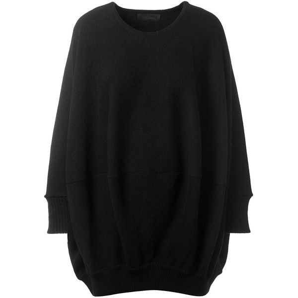 df6d8f4d62e86 Co Black Wool And Cashmere Oversize Pullover ( 280) ❤ liked on Polyvore  featuring tops