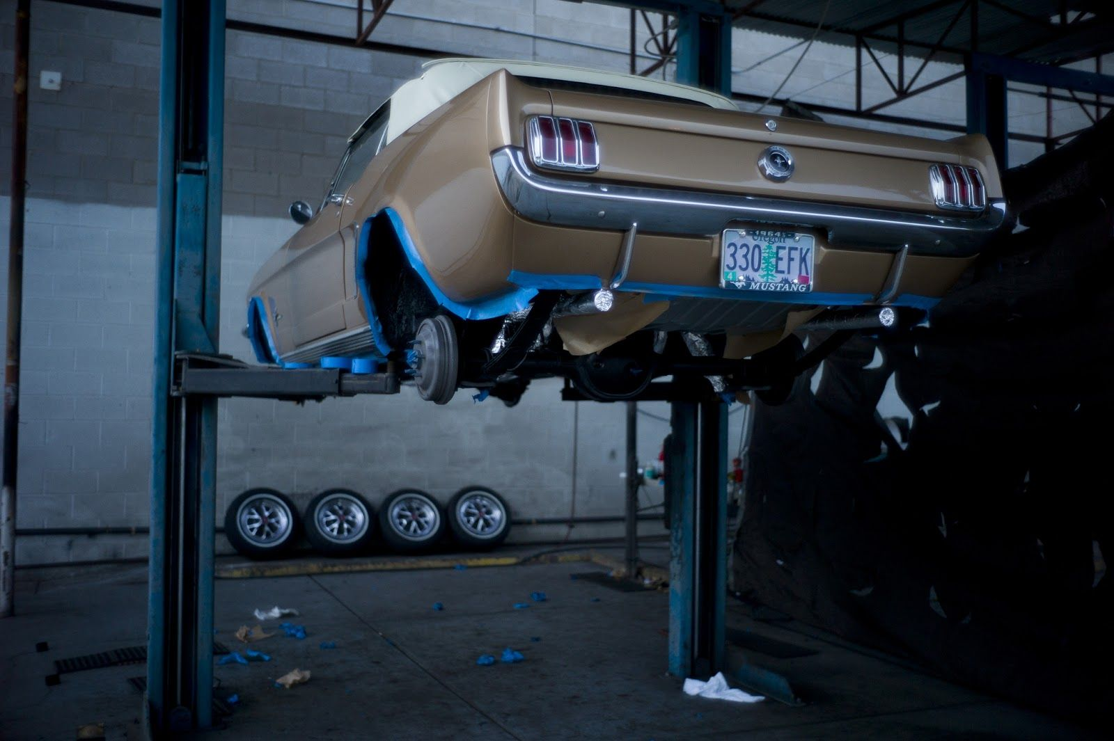 undercarriage restoration on a 1964 1/2 Ford Mustang D-Code. For ...