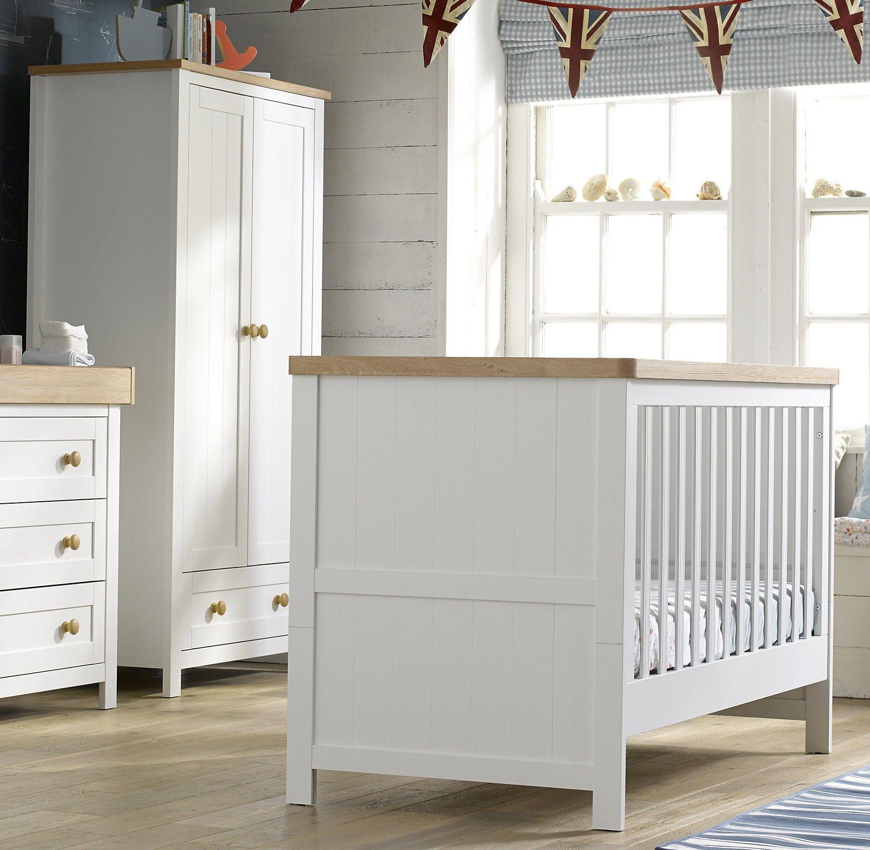 Lit bébé évolutif moderne blanc 70x140 Chambre 2
