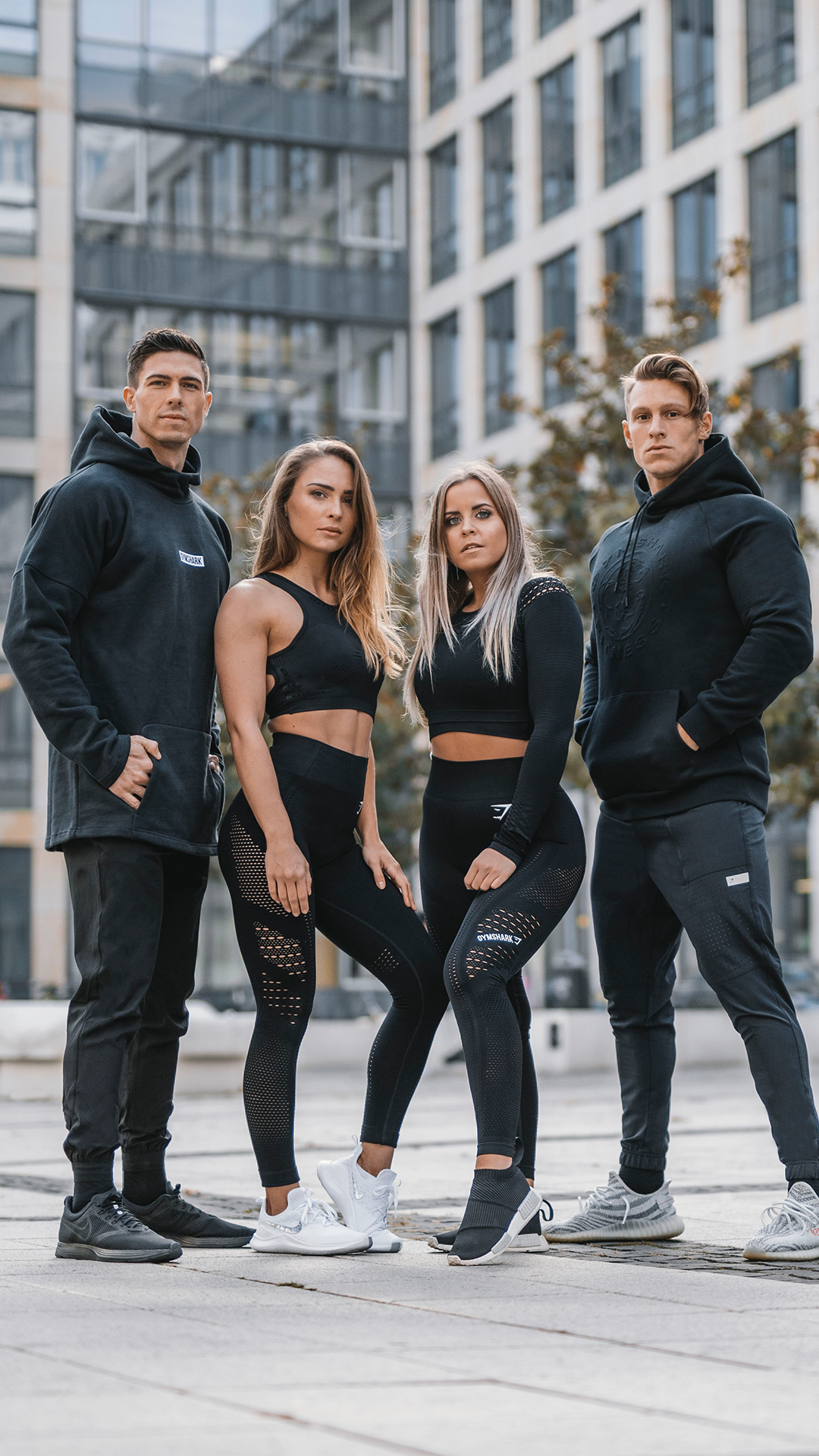 Julius Evelina Paula And Steve Sportin That All Black Everything Look And Of Course All Gymshark Gymshark G Fitness Fashion Fitness Photography Fit Women