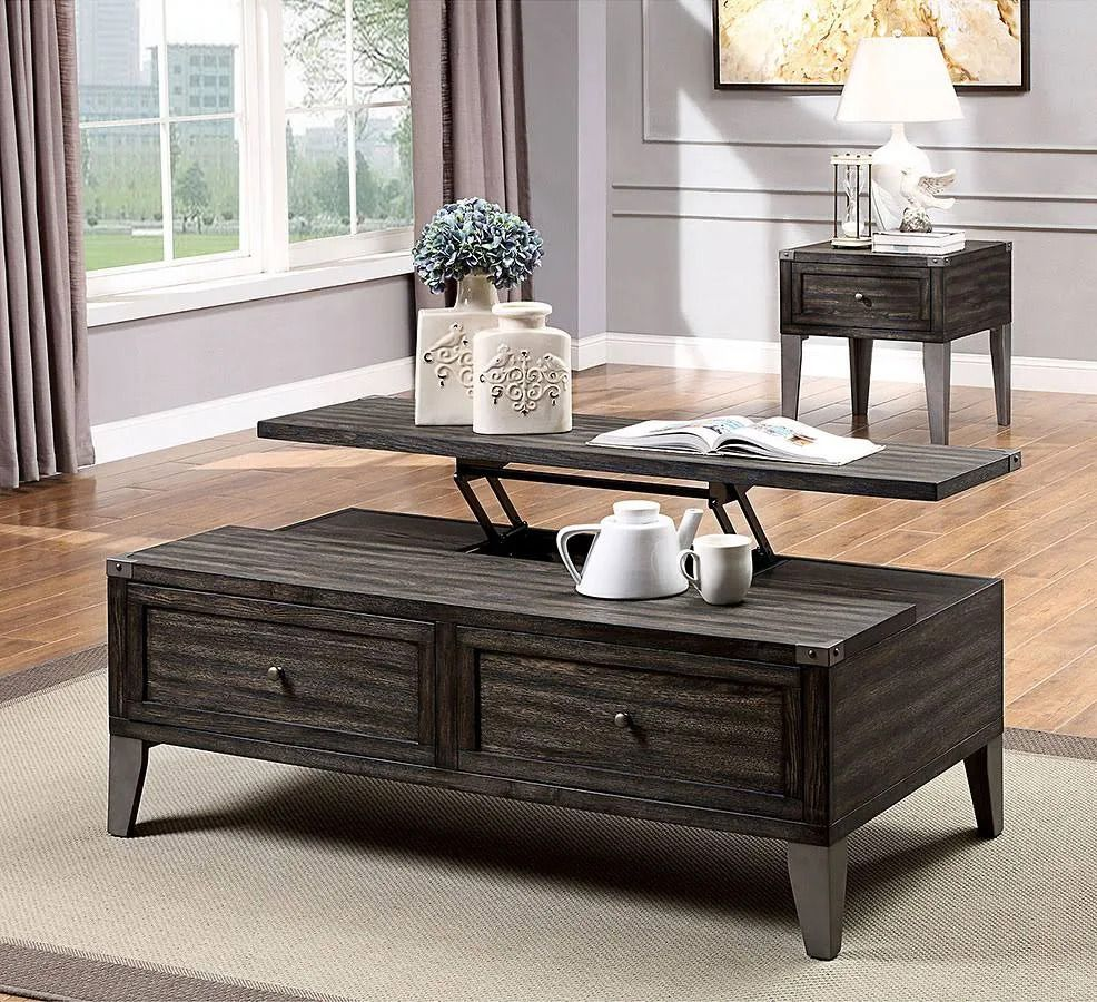 Lift Top Wooden Coffee Table With 2 Drawers Brown Bm233799 In 2021 Living Room Table Sets Coastal Living Room Furniture Living Room Side Table [ 900 x 986 Pixel ]