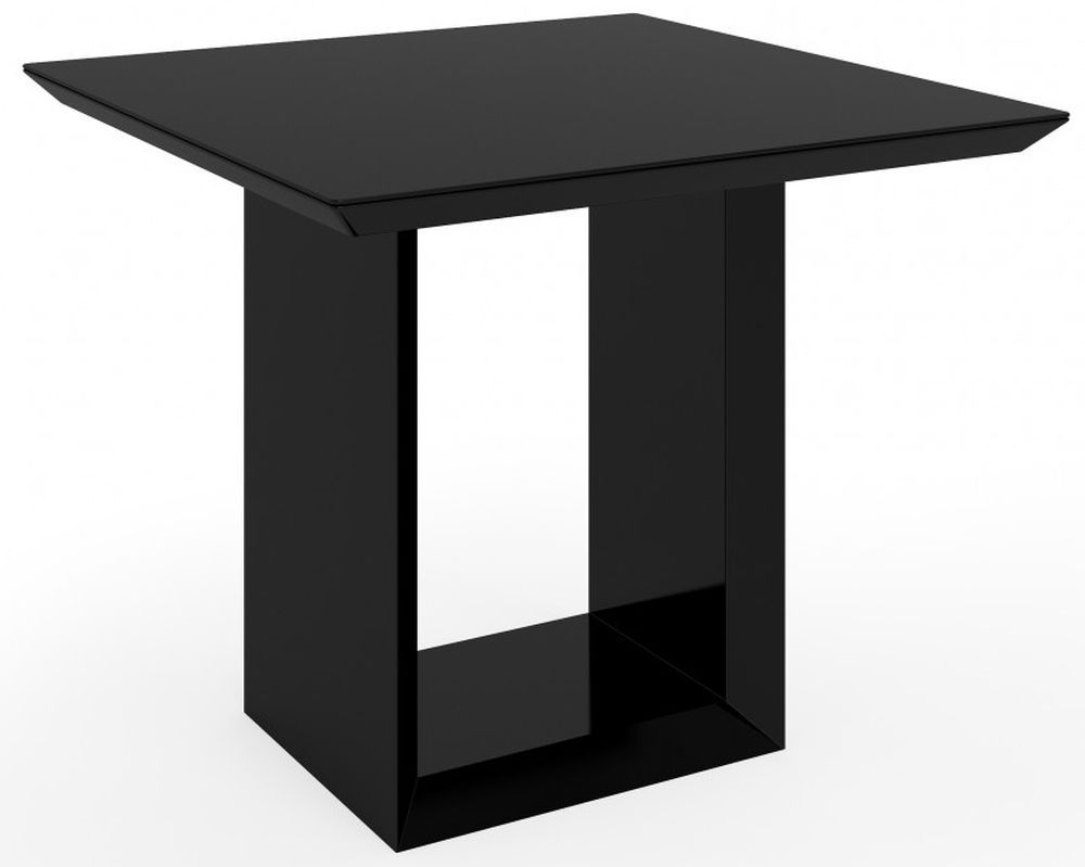 Zeus Black High Gloss Square Dining Table Square Dining Tables