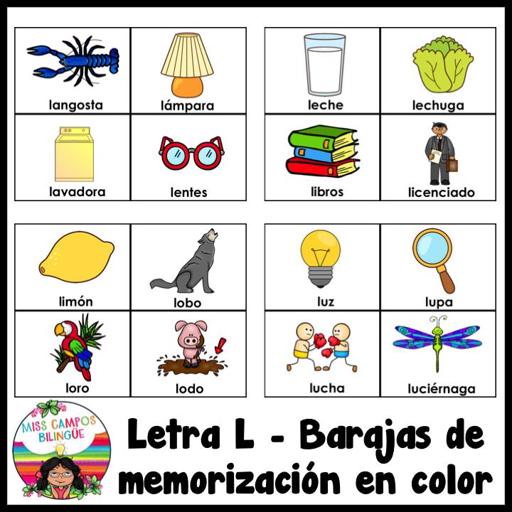 Letra L Silabas La Le Li Lo Lu Fonema L Teachers Corner