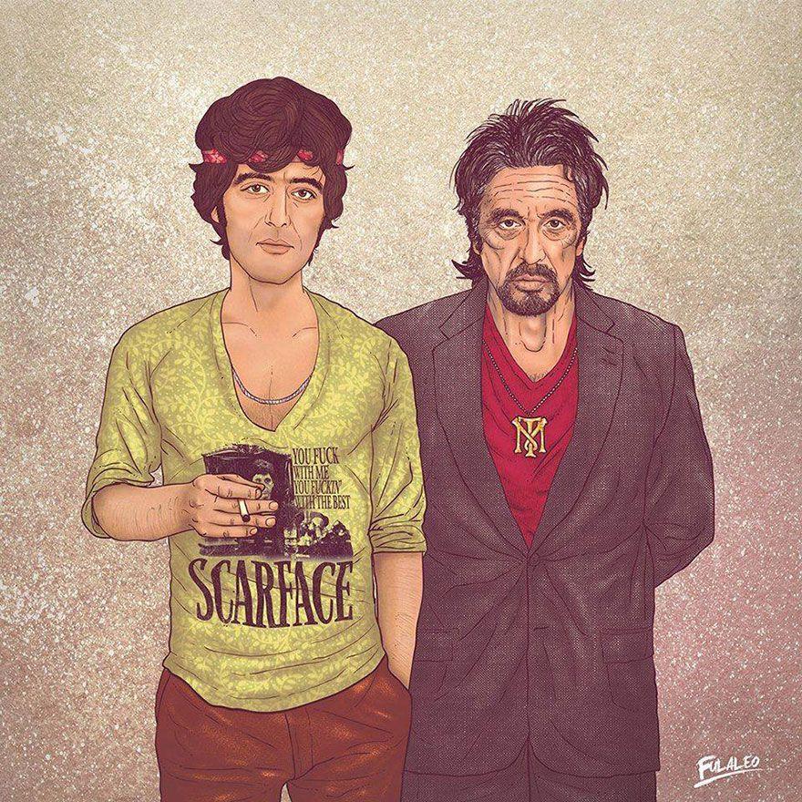 Ilustrações de Fulaleo - Al Pacino