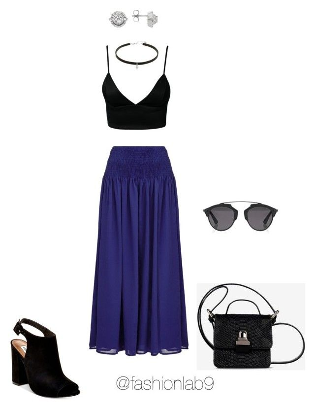 """""""Untitled #855"""" by alana-andrea-bacchus on Polyvore featuring Almost Famous, Steve Madden, MM6 Maison Margiela, Dark Pink, Christian Dior and Forzieri"""