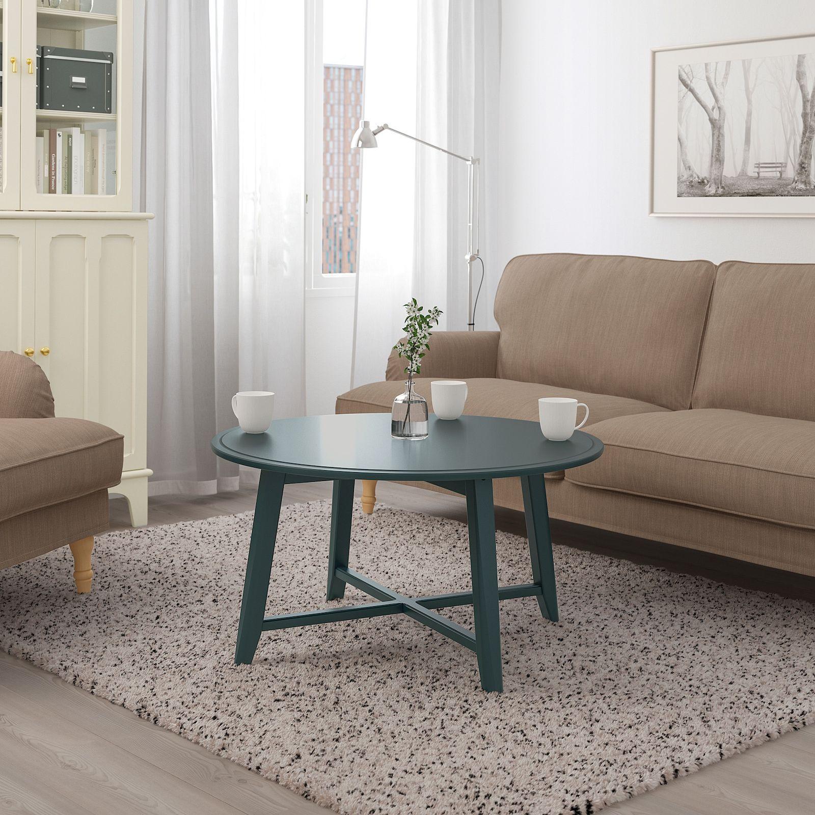 Kragsta Coffee Table Dark Blue Green 35 3 8 Ikea In 2021 Coffee Table Blue Coffee Tables Side Table Wood [ 1600 x 1600 Pixel ]