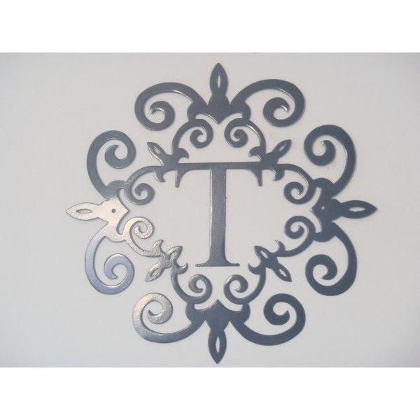 monogram letter t wall hanging | ... , Monogram inside a Metal ...