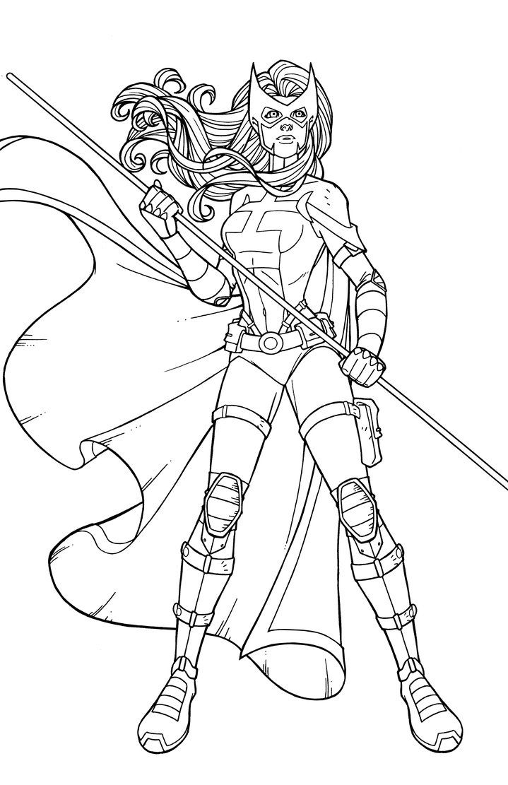 Huntress Coloring Pages Marvel Coloring Color
