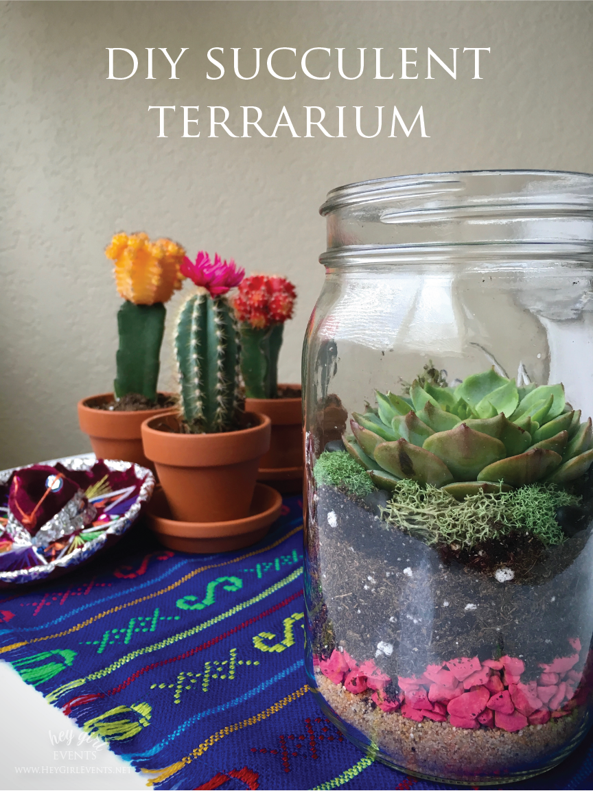 DIY Succulent Terrarium Party Activity & Favors by Hey Girl Events. www.heygirlevents.net
