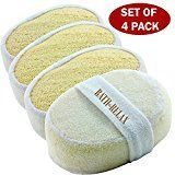Exfoliating Loofah Bath Sponge Pads Pack Of 4 - Ultra Thick, Great For Exfoliati...-#4