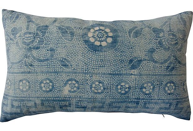 Faded Indigo Batik Pillow