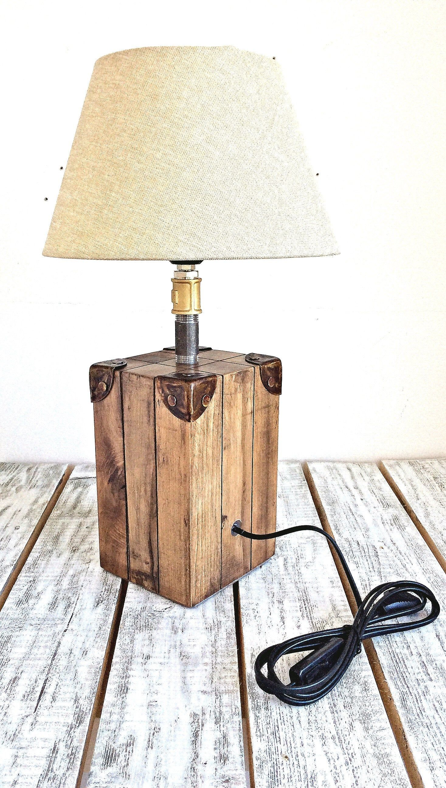 Bedside Lamp Table Lamp Wood Lamp Desk Lamp Rustic Lighting Wood Lamp Base Holzlampe Tischlampen Und Rustikale Beleuchtung