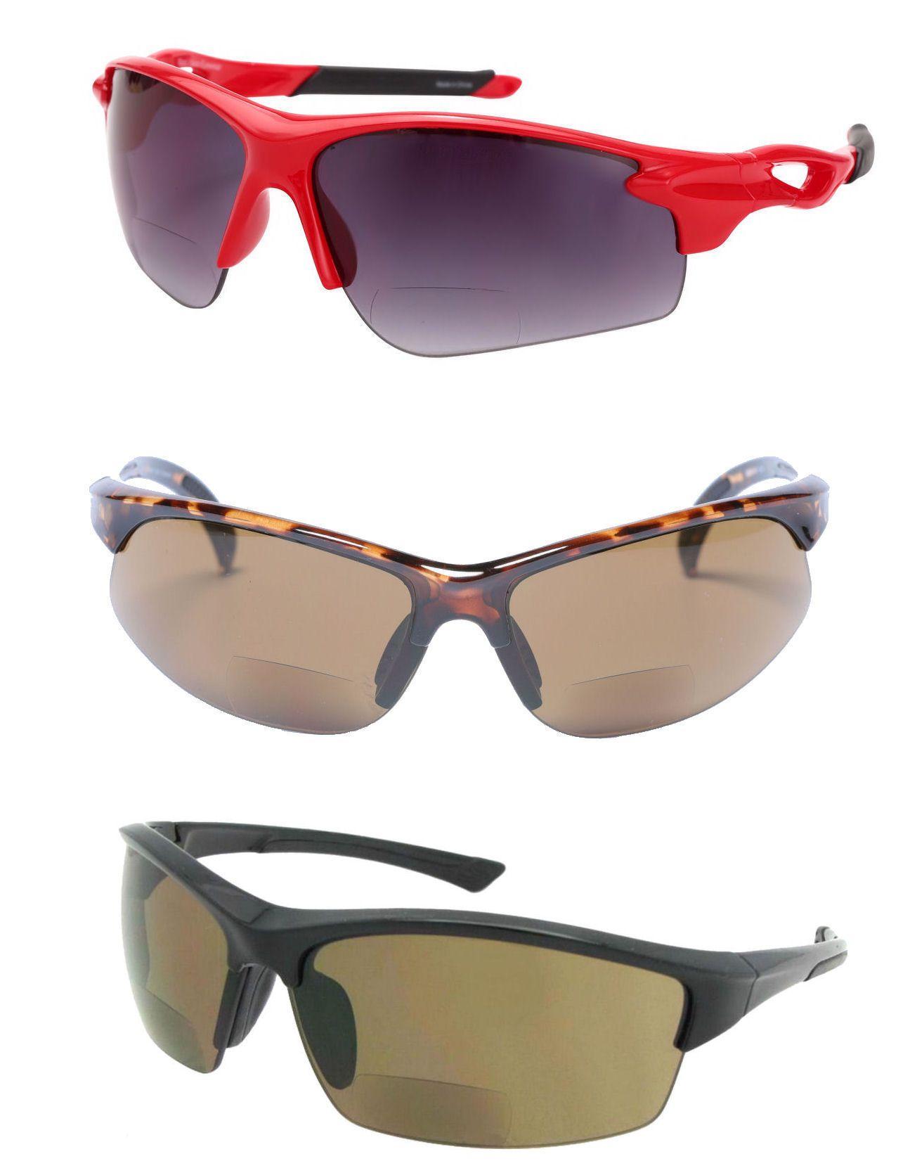 Ryders Bison R853001 Polarized Wrap Sunglasses, Black, 55