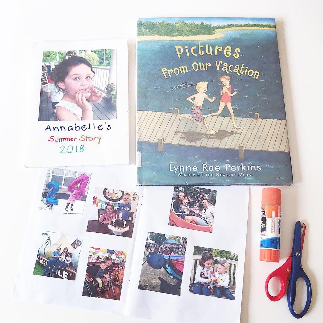 *EASY* SUMMER SCRAPBOOKS!  Great way to relive favorite memories, practice retelling stories, writin...