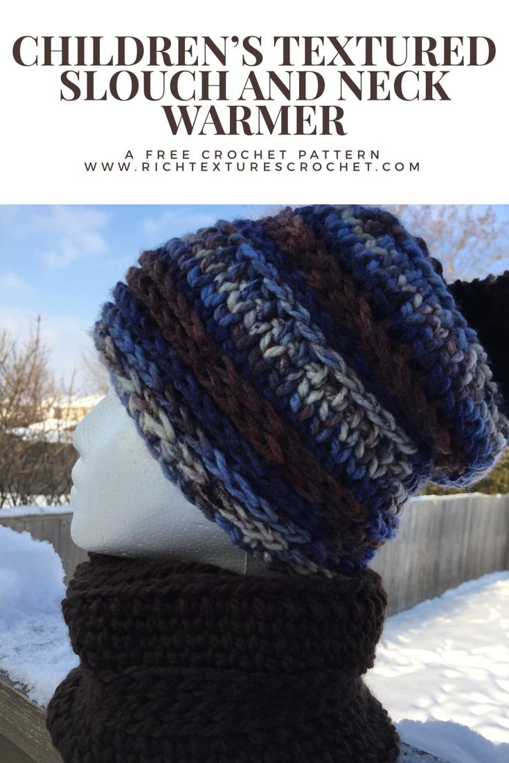 Children\'s Hat and Neck Warmer - Free Crochet Pattern #childrenshat ...