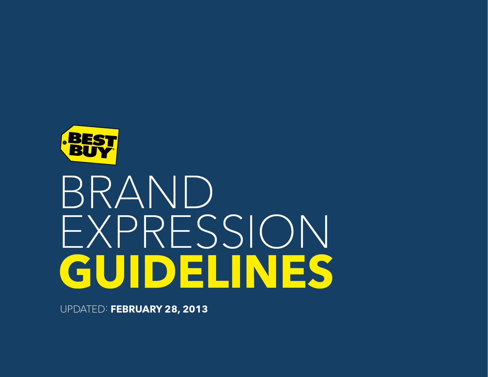 Best Buy Brand Identity Guidelines i heart brand