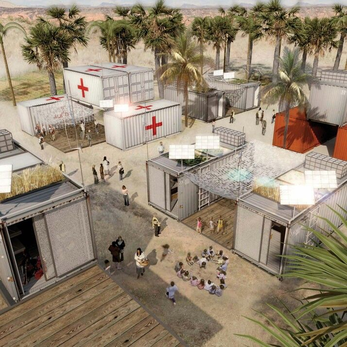 Pin By Andrew Cooley On Disater Relief Pods Container Architecture Hospital Architecture Temporary Architecture