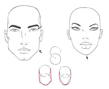 Diferencias Hombre Mujer Cara Y Cabeza Dibujo Moda