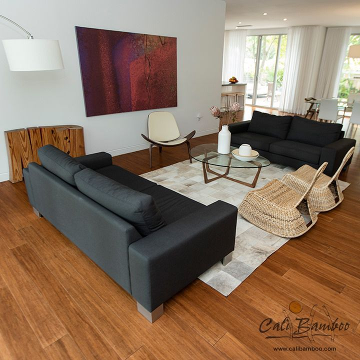 Bamboo Flooring Is A Beautiful Alternative To Hardwood Floors This Modern Dream Home Has Java In The Living Room And Kitchen