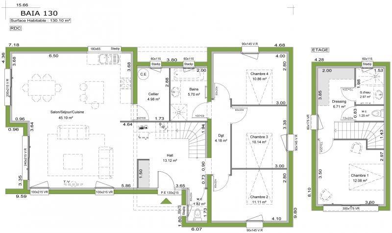 Modèle BAHIA du constructeur de maison littoral habitat