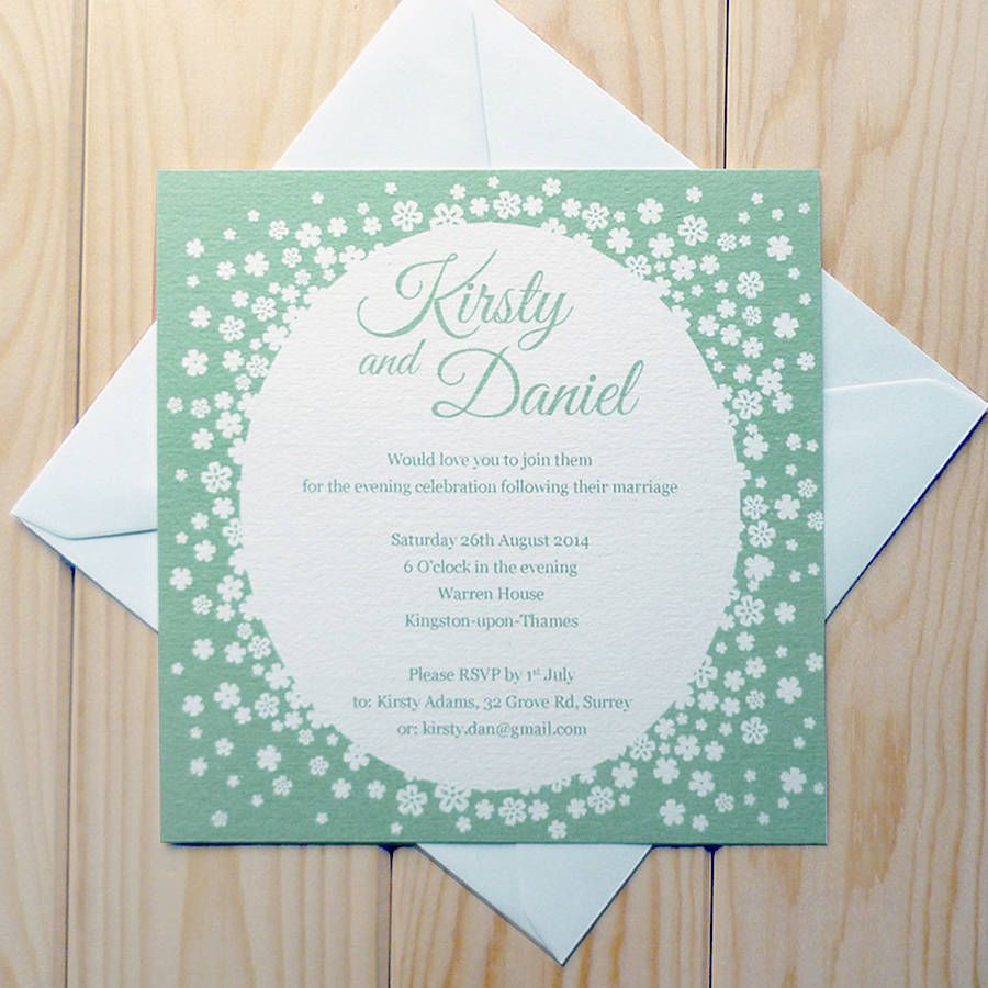 Confetti Wedding Invitation | Confetti, Reception invitations and ...