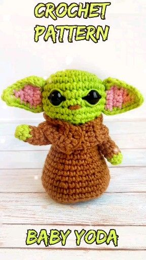 Photo of BABY YODA CROCHET doll – Baby yoda doll – The mandalorian – baby yoda plush – star wars crochet – am