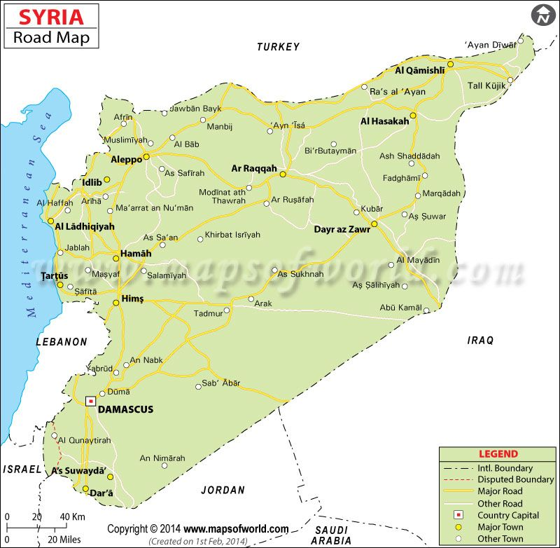 Syria Road Map Syria Pinterest Syria, Capital city and City - best of world map hungary syria