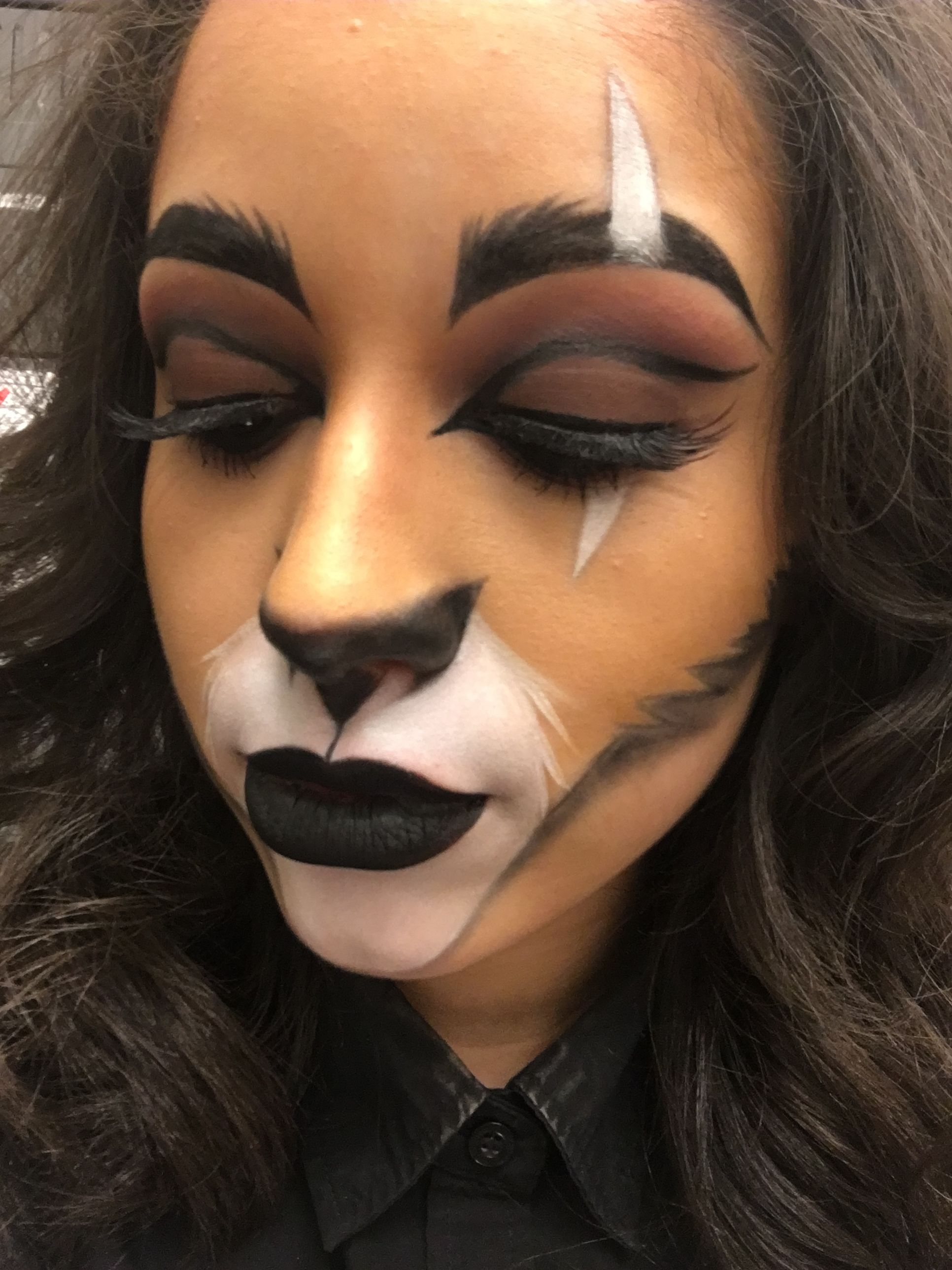 Superior My Halloween Makeup Of Scar From The Lion King.