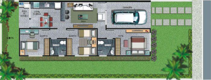 4 Modelos De Plantas De Casas Americanas Plantas De Casas Plantas De Casas Americanas Planta De Casa Terrea