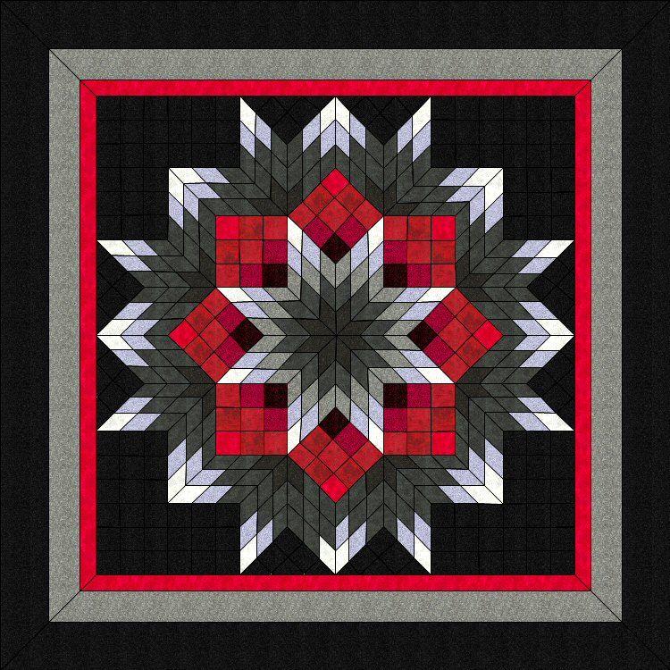 Lone Star Quilt Pattern Fragmented Broken Star Ii 54 X54 Qty Price