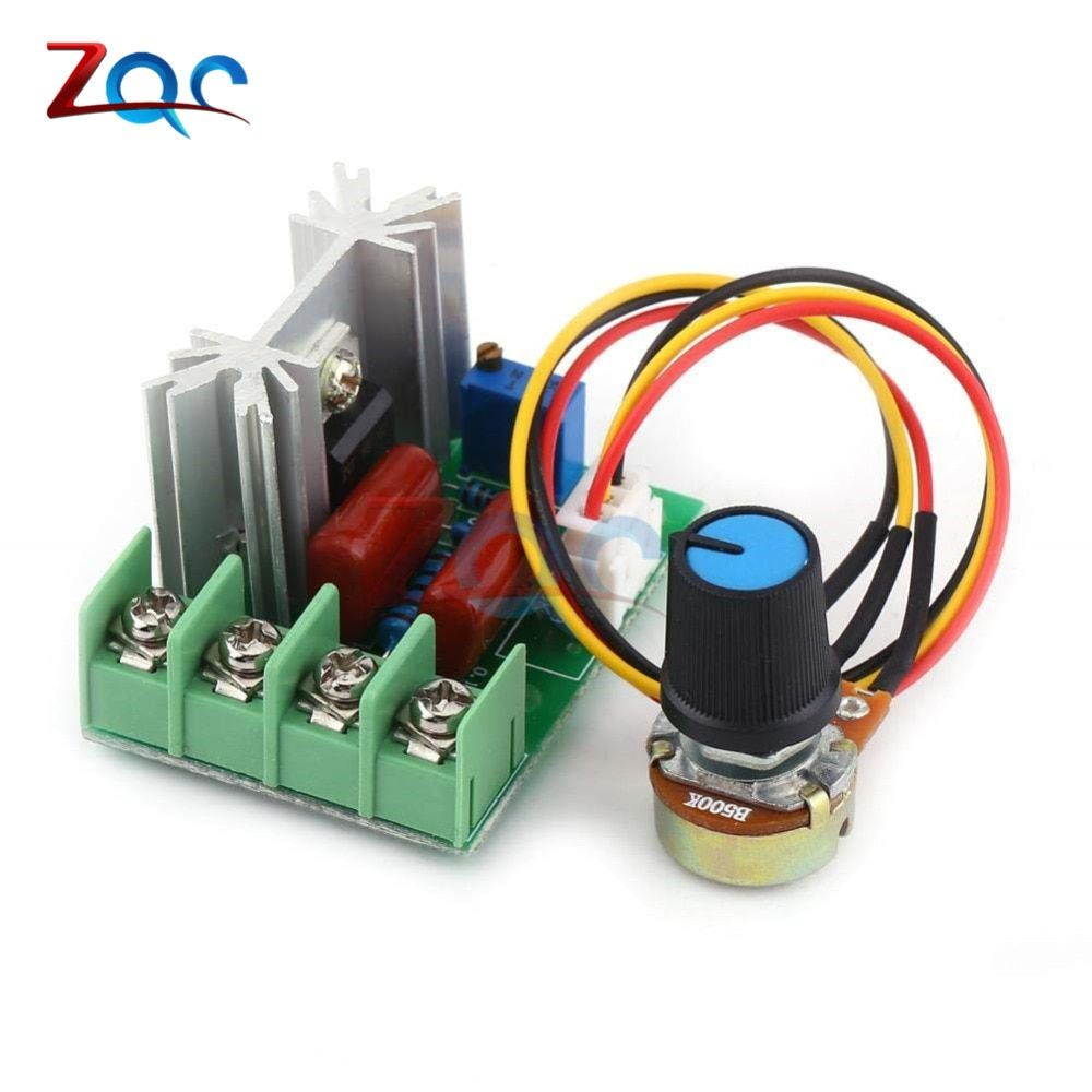 Ac 220v 2000w High Power Scr Voltage Regulator Dimming Dimmers Motor Speed Controller Governor Module W Pot In 2020 Voltage Regulator Vehicle Jumper Cables Motor Speed