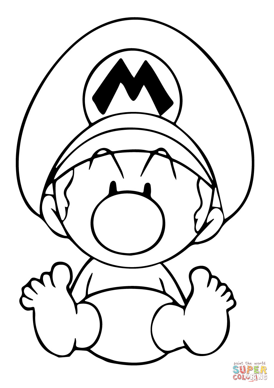 Baby Mario Coloring Pictures Mario Coloring Pages Super Mario Coloring Pages Coloring Pages To Print